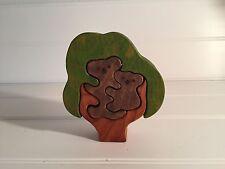 Vintage Wooden Koala Puzzle 3D Tree Wood Baby Cub 20437