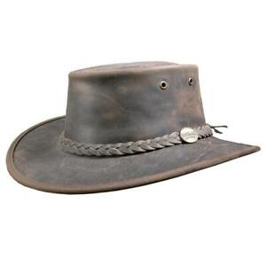 Barmah Bronco Hat Australian Cow Leather Foldable Hat
