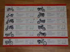 !!! Rarität Prospekt  Honda Preisliste 1976 , Motorrad Programm  !!!