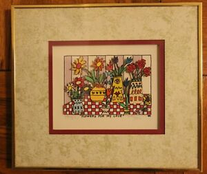 2 JAMES RIZZI 3D ART FLOWERS FOR MY LOVE SIGNED NUMBERED FRAMED PLUS F MAYSHE