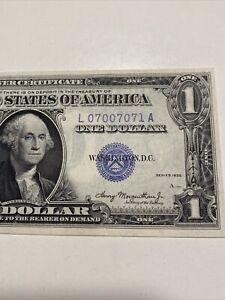 1935 Double Date $1 Silver Certificate Trinary# 07007071 LA Black UNC Top Rare!