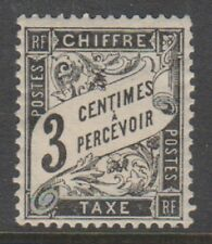 France - 1882, 3c Black Postage Due stamp - M/M - SG D281
