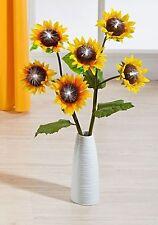 6 piezas Girasoles Primavera Flores AVESTRUZ Iluminación Luz Decoración Corona