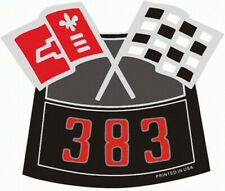 383 CHROME AIR CLEANER VINTAGE STYLE DECAL STICKER CHEVY CAMARO CHEVELLE NOVA