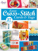 Easy Cross Stitch Cards & Tags Annie's Patterns Paper Crafting NEW