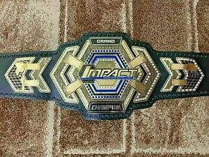TNA Grand Impact Heavyweight Wrestling Champions Belt Leather Metal Plate Adults