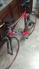 Red kuota factor 58cm mens  racing bike slightly used,