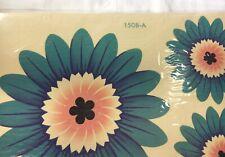 1960s Home Decor Decals Blue Pink Flower Hippie Mod Vintage Meyercord NIP 1508-A