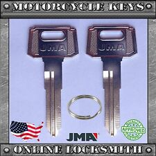 2 NEW BLANK UNCUT KEYS FOR SUZUKI MOTORCYCLES SUZ12 - FREE SHIPPING