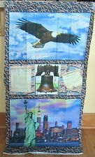 "1 Wonderful ""American Spirit"" Cotton Fabric Quilting/Wallhanging Sewing Panel"