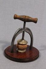 Steampunk Countertop Nutcracker, Cast Iron, Brass, Wooden Base