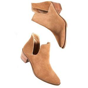 Steve Madden Camel Suede Doral Ankle Boots Size 8M