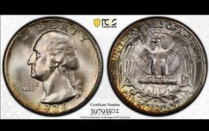 1936-S 25c Silver Washington Quarter - Luster! *PCGS MS 67*