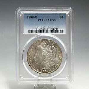 1889-O Silver Morgan Dollar US Coin - Graded PCGS AU58