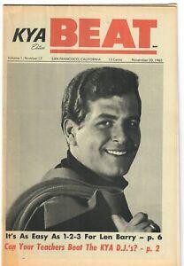 KYA BEAT 1965 Teen Magazine 1-17 Len Barry Beatles Silkie Shindig Herman