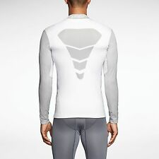 MEN'S NIKE PRO COMBAT SHIELD TOP WHITE /GREY COLOR  SIZE XL BNWT