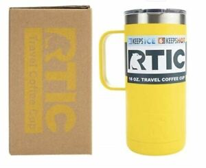 RTIC 16 Oz Stainless Steel Travel Coffee Cup Laser Etched Tumblers/Mugs