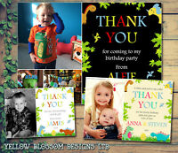 10 Kids Dinosaur Personalised Thank You Cards Birthday Christening Christmas Fun