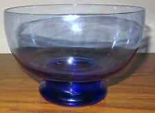 "Dansk Beautiful Blue Crystal Clear Art Glass Bowl 6.5"" w Box; MIB"