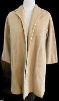 Fishelle Womens Vintage Maxi Coat 100% cashmere wool Satin Lined Size Medium