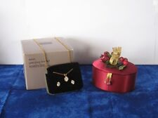 Avon Precious Trinket Jewelry Box with Necklace and Earrings 1991