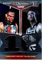 TNA Jeff Hardy & Mr. Anderson 2012 TENacious SILVER Dual Relic Card SN 24 of 100