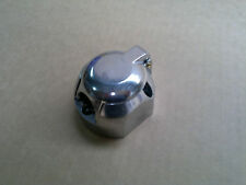 LARGE ROUND 7 PIN TRAILER CONNECTOR SOCKET  METAL - NEW