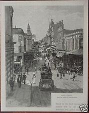 Orig 1886 Australian PRINT Engraving KING STREET from cnr George St SYDNEY