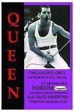 Freddie Mercury: Queen Forum in Los Angeles Concert Poster 1982 12x18