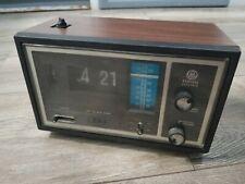 Vintage General Electric Flip Clock AM/FM Radio Alarm 7-4426D GE