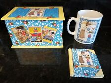 "Vintage Mary Engelbreit ""Thank a Teacher"" Box Set Coffee Tea Cup & Small Book"