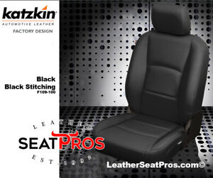 Leather Seat Covers Kit 2013-18 Dodge Ram Crew Quad Cab Black 1500 2500 3500