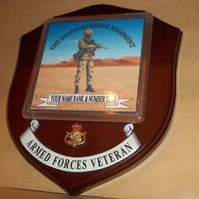 The Staffordshire Regiment Veteran Wall Plaque personalised.