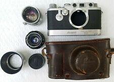 Lieca Dbp ernst Leitz Gmbh Film Camera case769187 Leicavit Winder summicron 5cm
