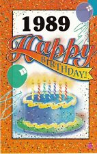 Birthday Card with Envelope 1989 Year of Birth