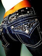 Buckle MISS ME by MEK JE5639SL Embellished Skinny Low Rise Stretch Jeans 24 x 33