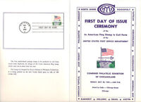 #1338A First Day Ceremony Program 6c American Flag Coil Stamp