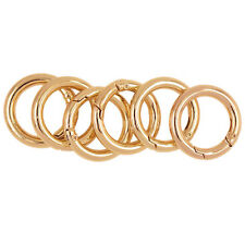 6pcs Gold Plated Alloy Round Carabiner Camping Spring Snap Clip Hook New.