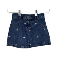 Gymboree Girls Jean Skirts Denim Casual Bottoms Skort Turtles Blue Kids Size 5