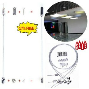 150* Hanging Suspension Mounting Wire Accessory Kits Fitting Panel LED Ceiling