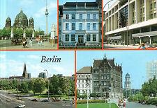Berlin  -  Marx-Engels-Brücke mit Dom und Fernsehturm - Marx-Engels-Forum - 1989