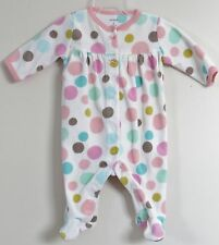 CARTER'S Size 3 Months Multi-Color Polka Dot Footed Long Sleeve Bodysuit Romper