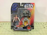 Vintage 1996 Star Wars red card Deluxe Han Solo figure, free shipping, 69612