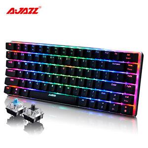 82 Keys Ajazz AK33 RGB LED Backlight Usb Ergonomic PC Mechanical Gaming Keyboard