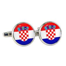 CROATO BANDIERA GEMELLI ROTONDI Croazia Zagabria EU MONDIALI HRVATSKA vatreni