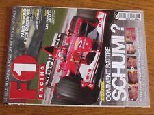 $$$ Revue F1 Racing N°42 SchumacherFrancaisEddie JordanOlivier Panis