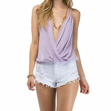 Chiffon Solid Regular Size Vests for Women
