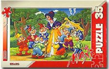 Snow White and Seven Dwarfs Fairy Tale 35 Piece Mega Puzzle Imported NEW