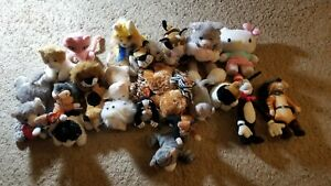 Lot of 26 Cats! Stuffed Animal Beanie Baby TY Chip Blizz Freckles
