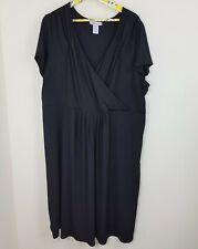 b50f8319191de Roamans Dress Size 24W Womens Black Solid Y Neckline Formal Career Work Wear